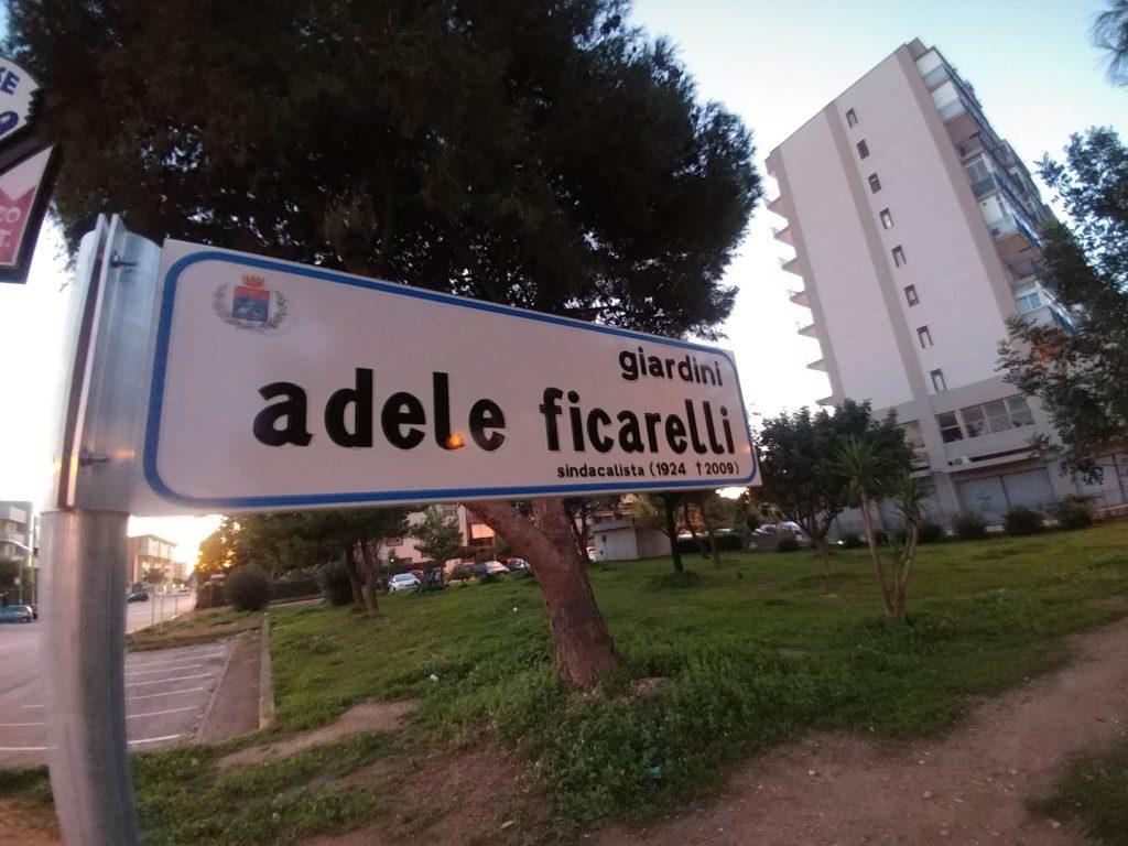 Targa giardini Adele Ficarelli